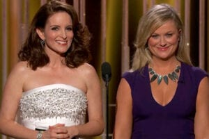 Tina Fey and Amy Poehler hosted the 72nd Golden Globes ceremony (NBC)