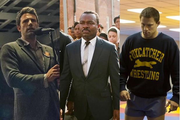 Ben Affleck in Gone Girl, David Oyelowo in Selma and Channing Tatum in Foxcatcher