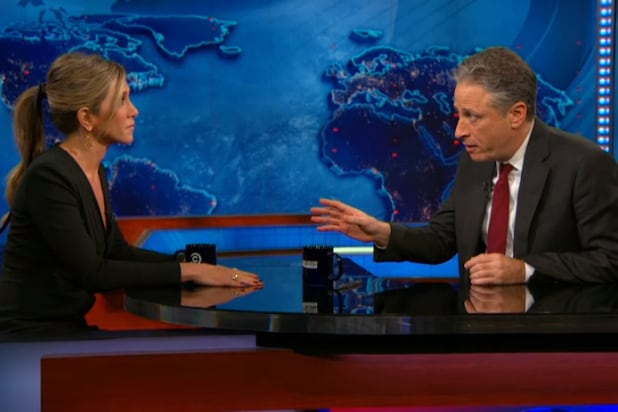 Jennifer Aniston Jon Stewart