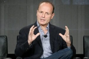 FX Networks & FX Productions CEO John Landgraf speaks onstage during the Executive Session panel discussion at the FX Networks portion of the Television Critics Association press tour at Langham Hotel on January 18, 2015 in Pasadena, California.