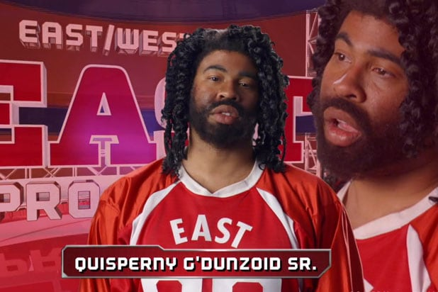 Key Peele S East West Bowl 3 Gets Crashed By Real Nfl Stars With Absurd Names Video