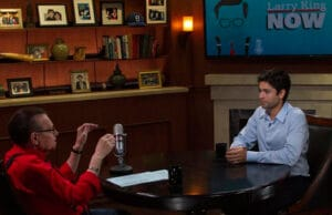 """Entourage star Adrian Grenier appears on """"Larry King Now"""" (Clay Pritchard)"""