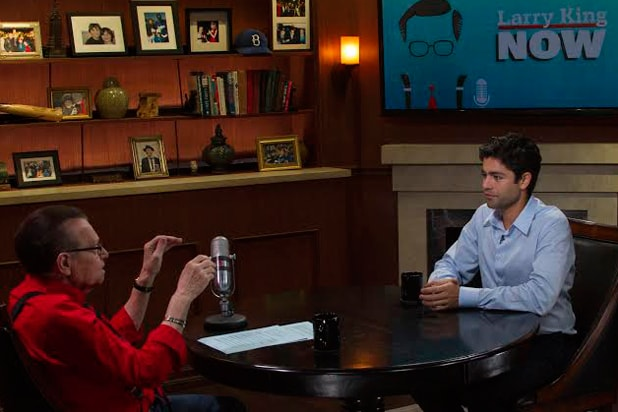 "Entourage star Adrian Grenier appears on ""Larry King Now"" (Clay Pritchard)"
