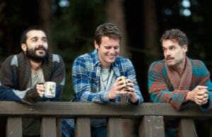 From left, Frankie Alvarez Jr., Jonathan Groff, Murray Bartlett