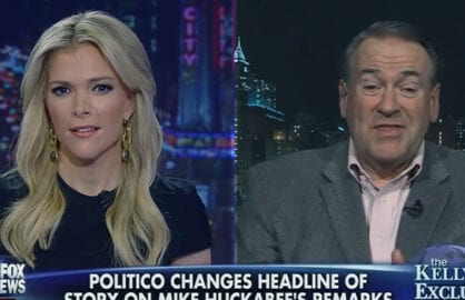 Megyn Kelly, Mike Huckabee