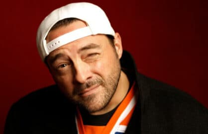 """""""Misery Loves Comedy"""" star Kevin Smith, photographed by Patrick Fraser at TheWrap's Kia photobooth during the 2015 Sundance Film Festival in Park City, Utah on Jan. 23, 2015."""