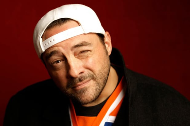"""Misery Loves Comedy"" star Kevin Smith, photographed by Patrick Fraser at TheWrap's Kia photobooth during the 2015 Sundance Film Festival in Park City, Utah on Jan. 23, 2015."