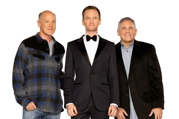 87th Oscars: Producer Neil Meron, host Neil Patrick Harris, Producer Craig Zadan (AMPAS)
