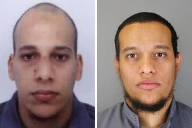 Police are seeking Said Kouachi, left, and Cherif Kouachi, right