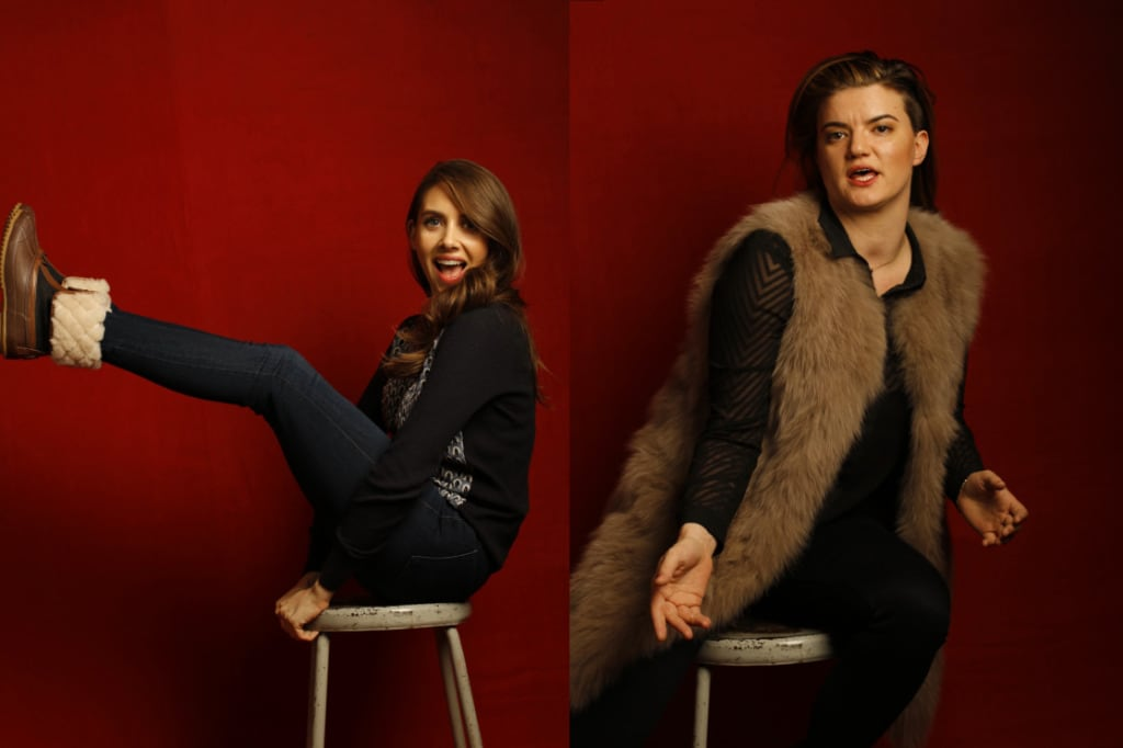 """Sleeping With Other People"" star Alison Brie and director Leslye Headland (l-r), photographed by Patrick Fraser at TheWrap's Kia photobooth during the 2015 Sundance Film Festival in Park City, Utah on Jan. 23, 2015."