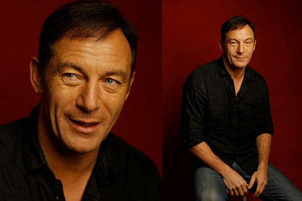 """Stockholm, Pennsylvania"" star Jason Isaacs, photographed by Patrick Fraser at TheWrap's Kia photobooth during the 2015 Sundance Film Festival in Park City, Utah on Jan. 23, 2015."