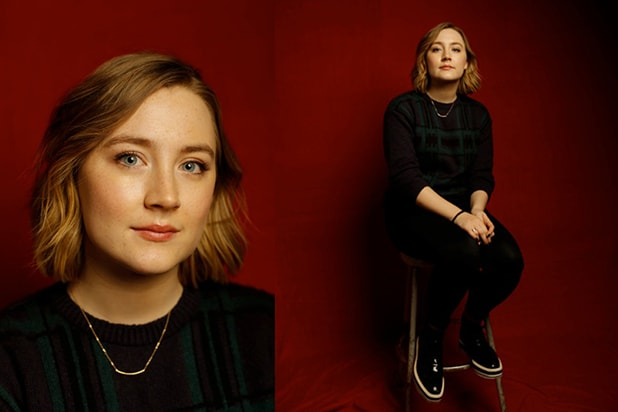 """Stockholm, Pennsylvania"" star Saoirse Ronan, photographed by Patrick Fraser at TheWrap's Kia photobooth during the 2015 Sundance Film Festival in Park City, Utah on Jan. 23, 2015."