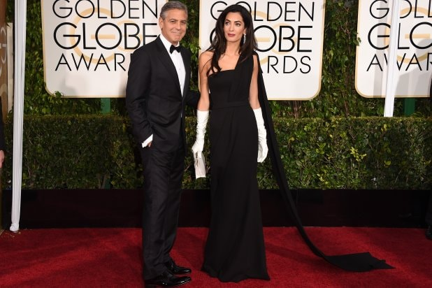 "George Clooney & Amal Clooney at ""The 72nd Annual Golden Globe Awards"""