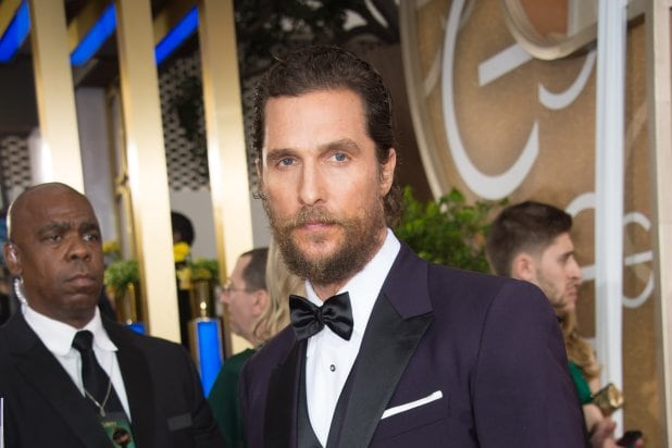 "Matthew McConaughey at ""The 72nd Annual Golden Globe Awards"""