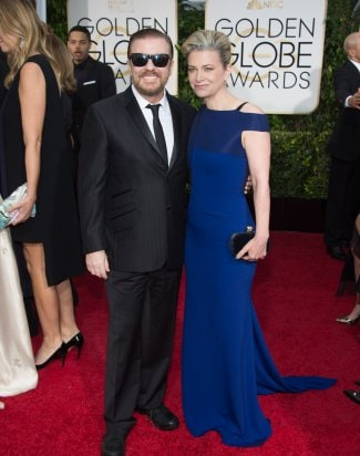 "Ricky Gervais & Jane Fallon at ""The 72nd Annual Golden Globe Awards"""