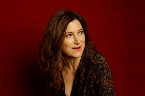 """The D Train"" star Kathryn Hahn, photographed by Patrick Fraser at TheWrap's Kia photobooth during the 2015 Sundance Film Festival in Park City, Utah on Jan. 23, 2015."