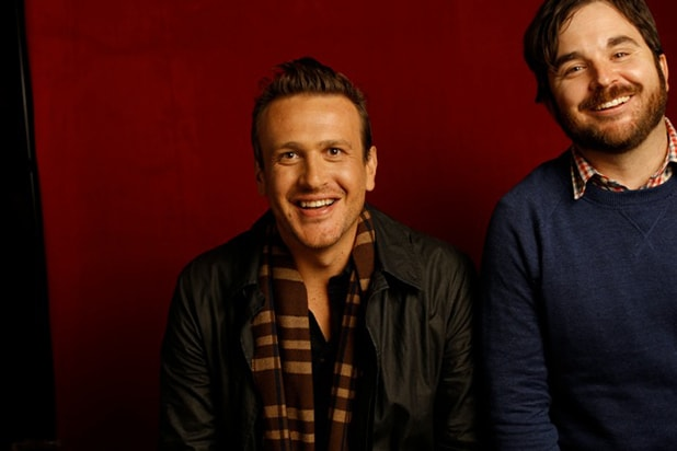 """The End of the Tour"" star Jason Segel and director James Ponsoldt, photographed by Patrick Fraser at TheWrap's Kia photobooth during the 2015 Sundance Film Festival in Park City, Utah on Jan. 23, 2015."