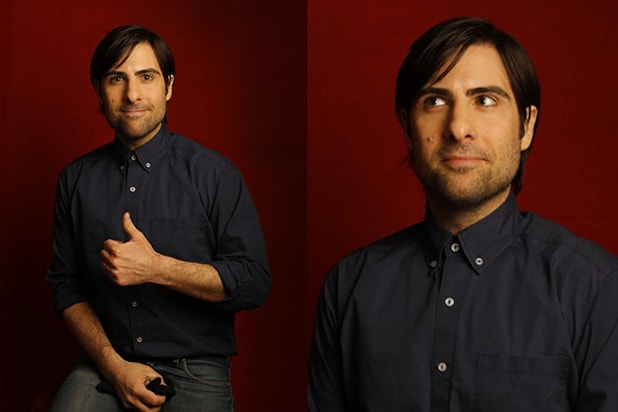 """The Overnight"" producer Jason Schwartzman, photographed by Patrick Fraser at TheWrap's Kia photobooth during the 2015 Sundance Film Festival in Park City, Utah on Jan. 23, 2015."