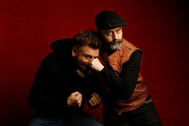 """Viking"" directors Sam and Ben Callis, photographed by Patrick Fraser at TheWrap's Kia photobooth during the 2015 Sundance Film Festival in Park City, Utah on Jan. 23, 2015."