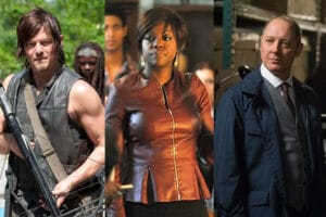 Walking Dead, How to Get Away With Murder, The Blacklist