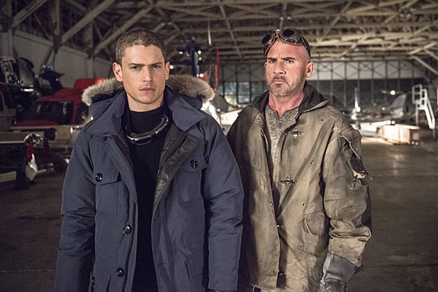 Wentworth Miller, Dominic Purcell on The Flash