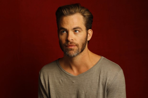 """Z for Zachariah"" star Chris Pine, photographed by Patrick Fraser at TheWrap's Kia photobooth during the 2015 Sundance Film Festival in Park City, Utah on Jan. 23, 2015."