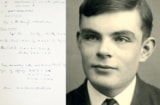 Alan Turing and notebook page