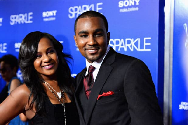 Bobbi Kristina Brown (R) and Nick Gordon arrive at Tri-Star Pictures' 'Sparkle' premiere at Grauman's Chinese Theatre on August 16, 2012 in Hollywood, California. (Photo by Frazer Harrison/Getty Images)
