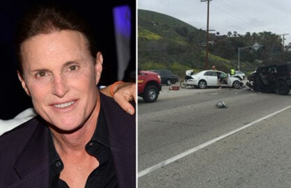 Bruce Jenner was Involved in a fatal car crash on Saturday, Feb. 7, 2014 (Credit: Getty Images/Twitter)