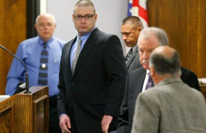 STEPHENVILLE, TX - FEBRUARY 11: Former Marine Cpl. Eddie Ray Routh appears in court on the opening day of his capital murder trial at the Erath County Donald R. Jones Justice Center on February 11, 2015 in Stephenville, Texas. Routh, 27, of Lancaster is charged with the 2013 deaths of former Navy SEAL Chris Kyle and his friend Chad Littlefield at a shooting range near Glen Rose, Texas. (Photo by Tom Fox-Pool/Getty Images)