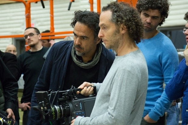 Emmanuel Lubezki with Alejandro Inarritu