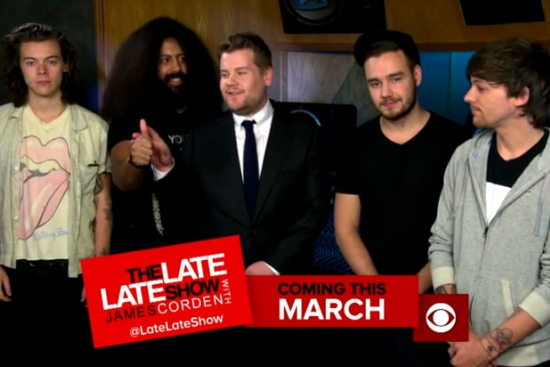 James Corden And Reggie Watts Join One Direction Literally For