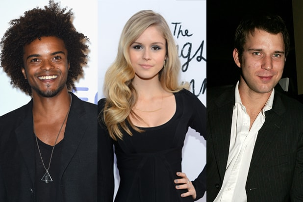 Left: Eka Darville, Erin Moriarty, Wil Traval