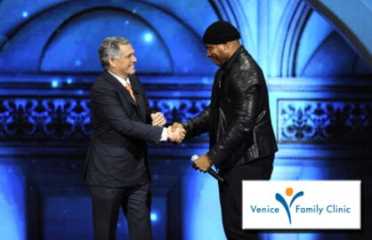 Les Moonves and LL Cool J at the CBS upfront. (Michael Bezjian/CBS/Getty Images)