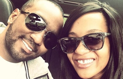 Nick Gordon and Bobbi Kristina Brown are shown in a photo posted on her Instagram page on Apr. 28, 2014