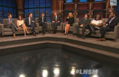 Parks and Recreation Cast on Seth Meyer