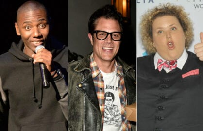 Jerrod Carmichael,  Johnny Knoxville, Fortune Feimster (Getty Images/edited by L.A. Ross)