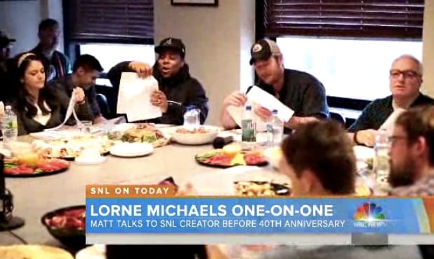 Matt Lauer Goes Behind the Scenes at 'SNL' With Creator Lorne Michaels (Video)