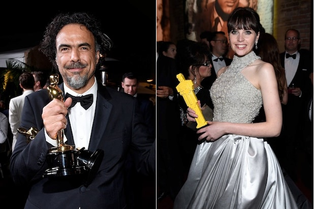 Alejandro G. Inarritu and Felicity Jones