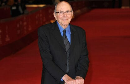 """""""Rebel Without a Cause"""" screenwriter Stewart Stern in Rome in 2011 (Gareth Cattermole/Getty Images)"""