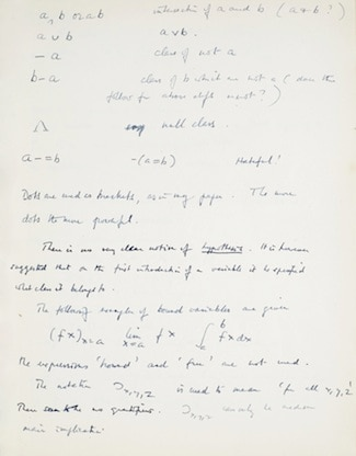Alan Turing notebook page