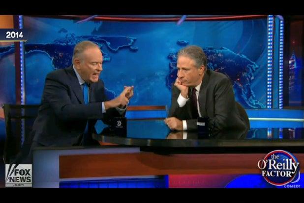 Bill O'Reilly and Jon Stewart (Fox)