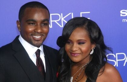"HOLLYWOOD, CA - AUGUST 16: Bobbi Kristina Brown (R) and Nick Gordon arrive at the Los Angeles Premiere of ""Sparkle"" at Grauman's Chinese Theatre on August 16, 2012 in Hollywood, California. (Photo by Maury Phillips/Getty Images For A E Networks)"