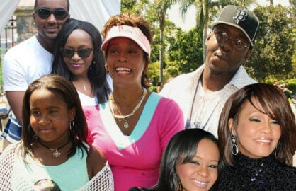 Bobbi Kristina, Whitney Houston, Bobby Brown composite