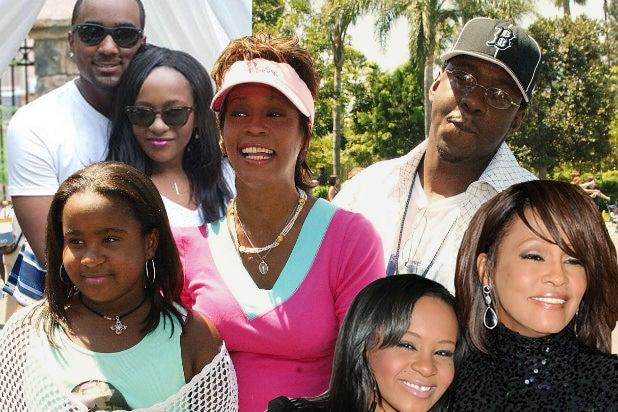 Bobbi Kristina, Whitney Houston, Bobby Brown composite