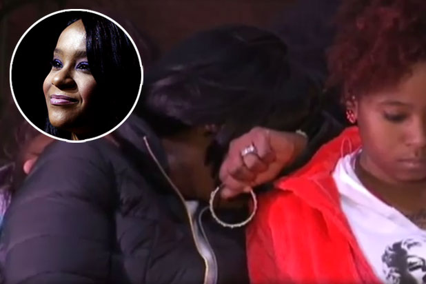 Bobbi Kristina Brown Friends Fans Shed Tears At Emotional Prayer