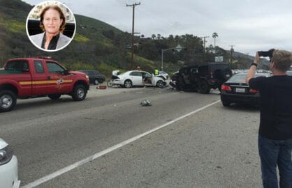 Bruce Jenner accident scene