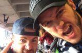 Chris Pratt and Chris Evans at Super Bowl XLIX