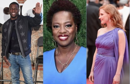 Kevin Hart, Viola Davis and Jessica Chastain