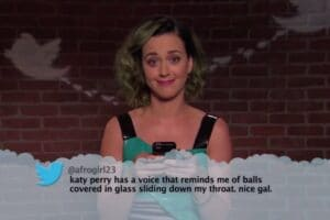 "Katy Perry reads ""Mean Tweets"" on ""Jimmy Kimmel Live"""